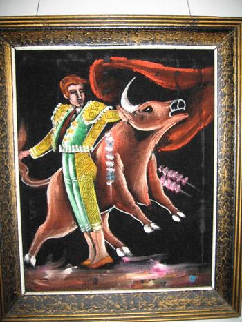 Black velvet bullfighter